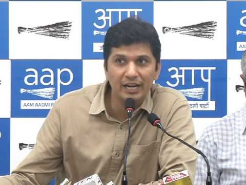 AAP Press Brief on EVM Hackathon, BSES and Amit Shah