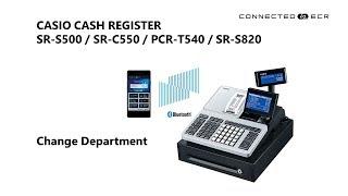 CASIO SR-S500/SR-C550/PCR-T540/SR-S820 POS Cash Register - Change Department