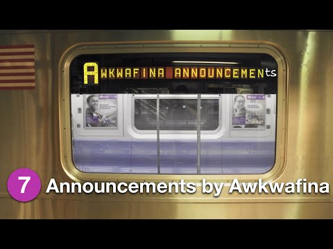 ⁴ᴷ R188 Subway Cars Testing Automated Announcements By Awkwafina