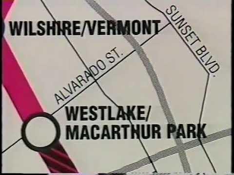 Building Los Angeles Metro Red Line, 1991