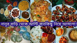 নানু কি কি পাঠালো আম্মুর জন্য?|তান্দুরি চিকেন-গার্লিক নান,চটপটি,আলু পেয়াজি,দুধ সেমাই,সন্ধ্যার নাস্তা