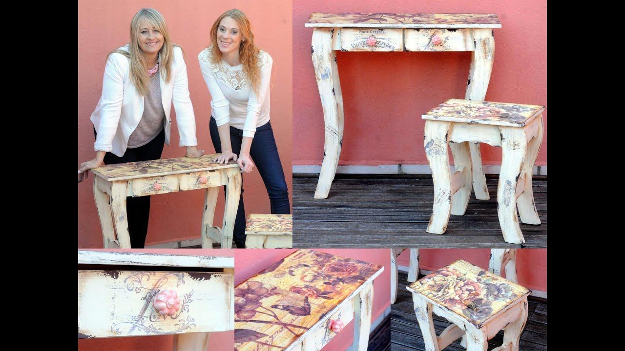Reciclar muebles de pino vintage sublimacion patinas - Muebles en madera de pino ...