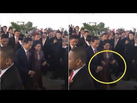 Perlakuan Presiden Joko Widodo pada Ibu Negara Tuai Pujian, Perhatikan Tangannya