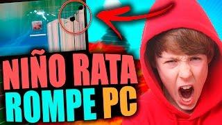 NIÑO RATA ROMPE PC POR TROLLEO | TROLLEOS EN MINECRAFT #91
