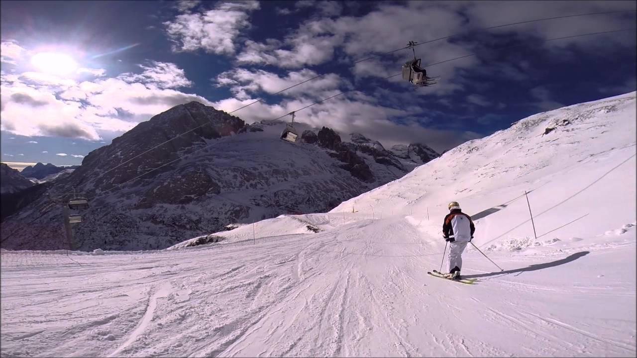 Skiing in corvara 2016
