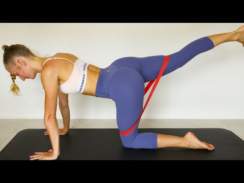 Resistance Band Booty At Home Workout + Glute Activation