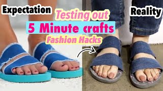 Testing out VIRAL FASHION HACKS by 5 MINUTE CRAFTS | Unexpected Results 😍 | Glamorous Sapna
