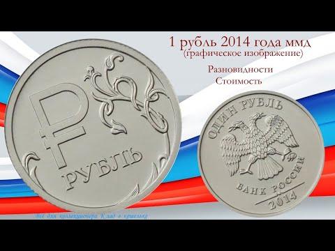 Разновидности монеты 1 рубль 2014 г ММД с графическим изображением