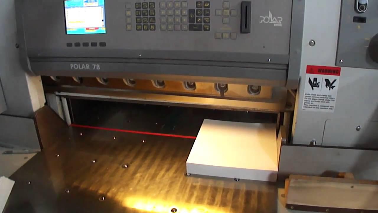 polar 78 programmable paper cutter youtube rh youtube com