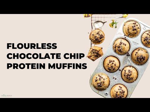 Flourless Chocolate Chip Protein Muffins