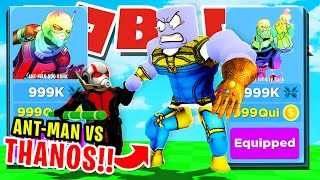 ANT-MAN VS THANOS!! NOOB ANT-MAN GETS MAX RANK WITH FULL TEAM OF LEGENDARY PETS ROBLOX NINJA LEGENDS