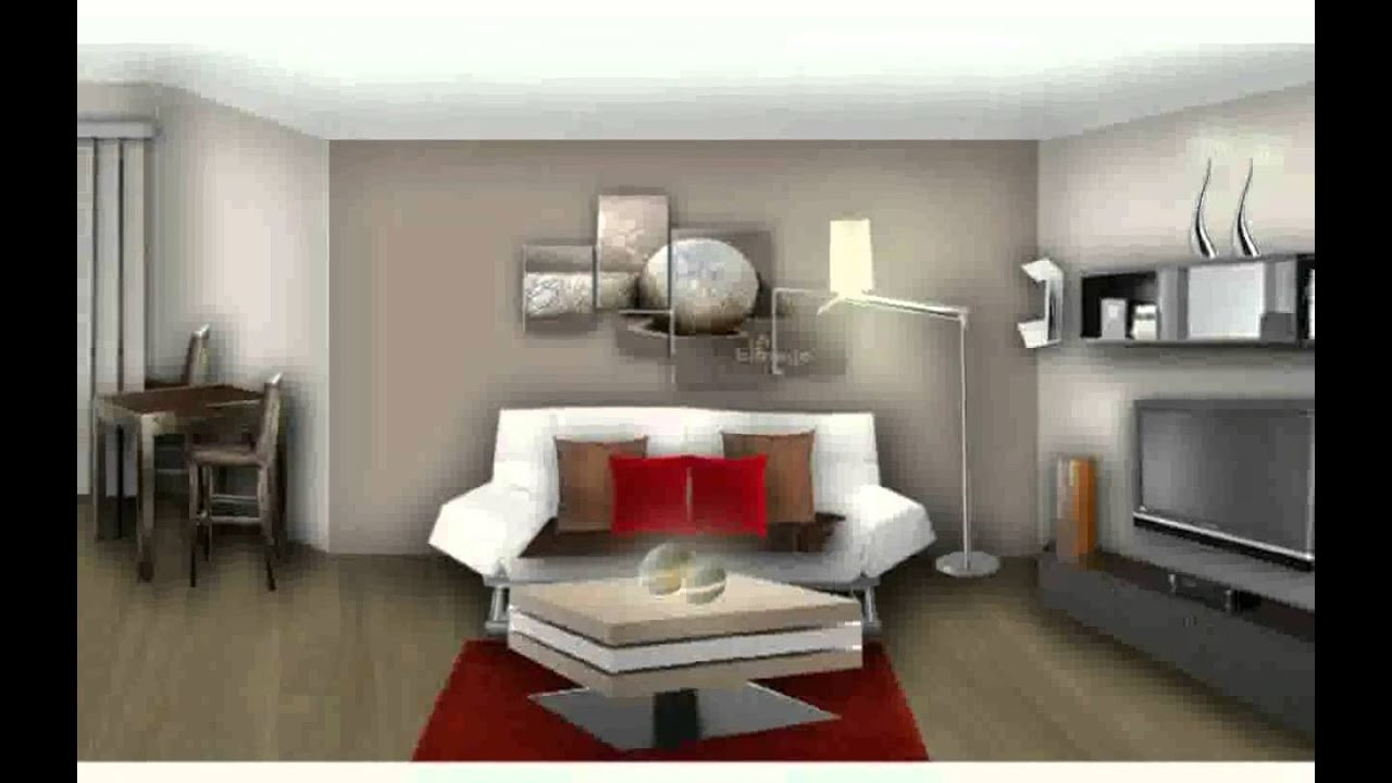 Model salon moderne youtube - Idee peinture appartement ...