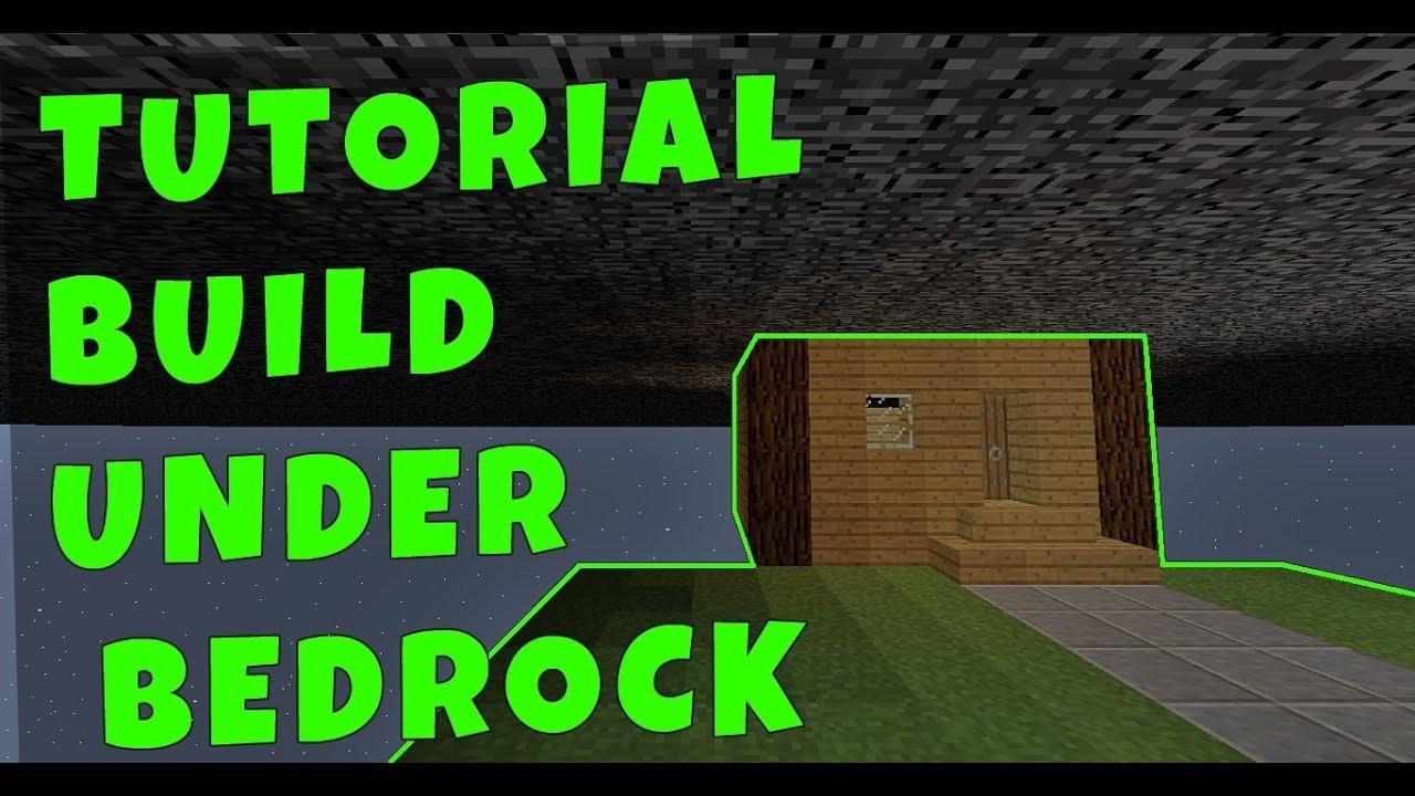 HOW TO BUILD UNDER BEDROCK - MINECRAFT - YouTube