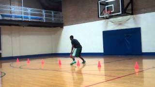 Basketball Workout: Cone Dribble Series