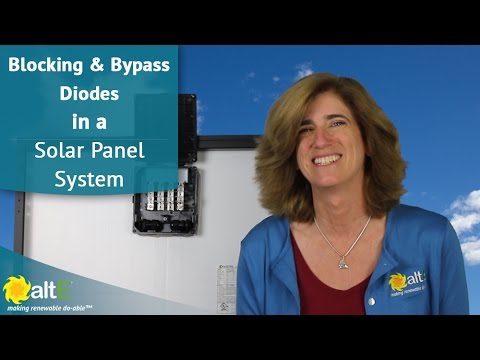 Blocking and Bypass Diodes in a Solar Panel Systems