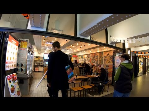 ⁴ᴷ⁶⁰ Walking Tour Of The Turnstyle Underground Food Market At Columbus Circle