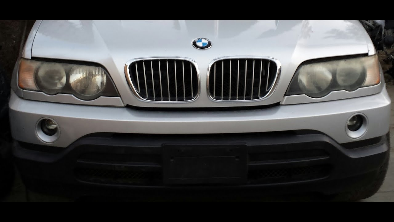 00 03 Bmw E53 X5 4 4 3 0 Front Bumper Cover Removal Youtube