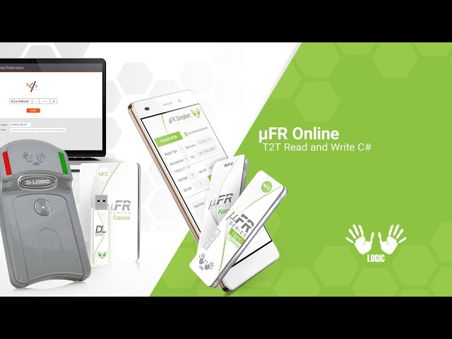 Type 2 NFC tag Read/Write software SDK in C# - Demonstration with Wireless NFC Reader uFR Online