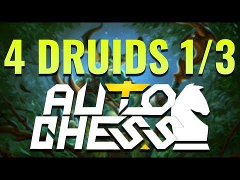 Strategy Challenge | 4 DRUIDS 1/3 ► Dota Auto Chess