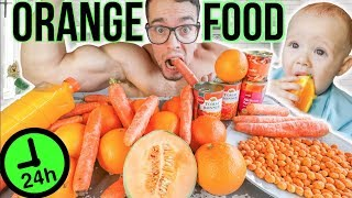 BABY & I ONLY ATE ORANGE FOOD for 24 HOURS challenge!
