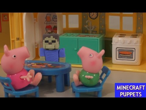 Peppa Pig House Playset & George Suzie Figures Unboxing Review Puppet Steve