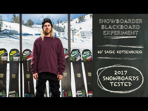 The Blackboard Experiment: 2017 Snowboard Review with Sage Kotsenburg - Intro