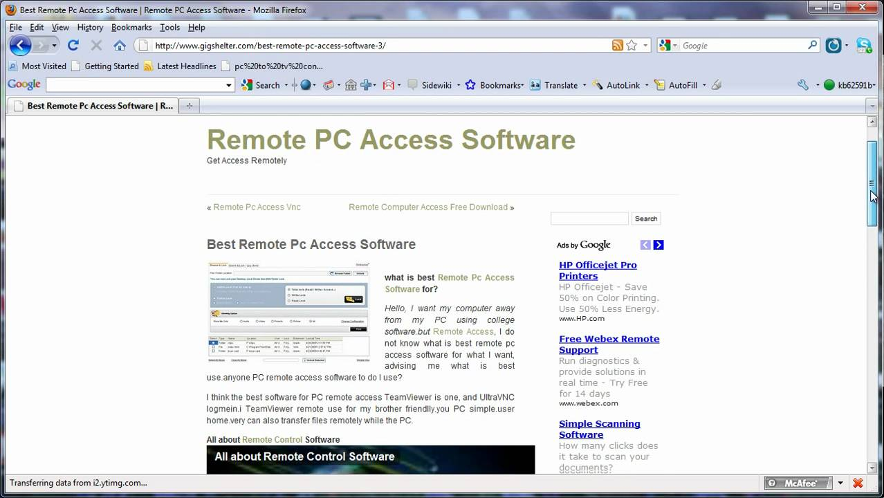 Best Remote PC Access Software