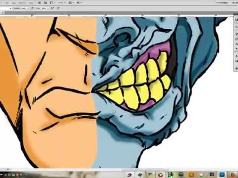 How To Draw Two Face Youtube