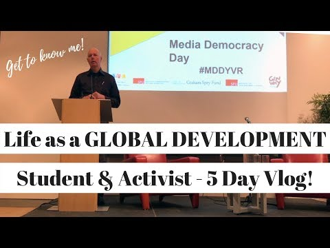 Life as a GLOBAL DEVELOPMENT Student and Activist (5 Day Vlog)