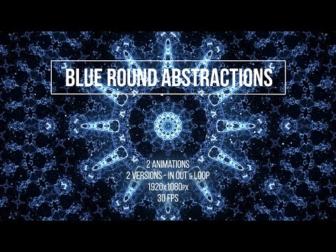 Motion Graphics - Blue Round Abstractions