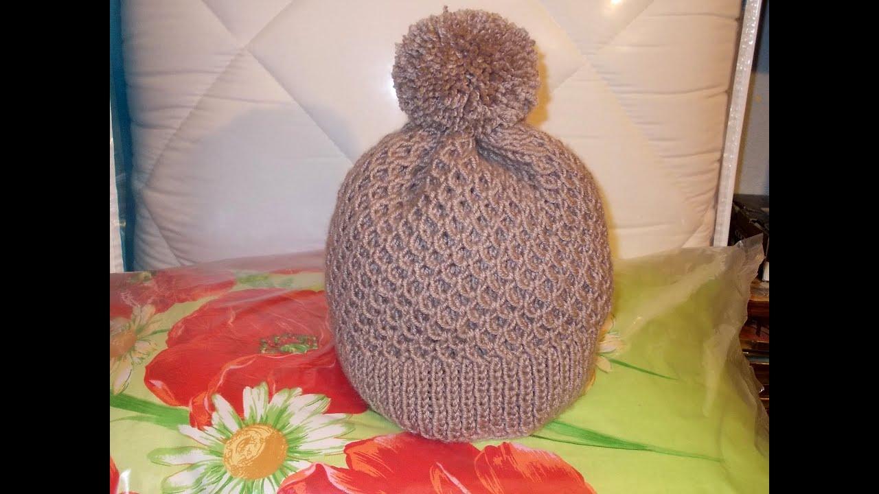 схема узора вязания шапок детских