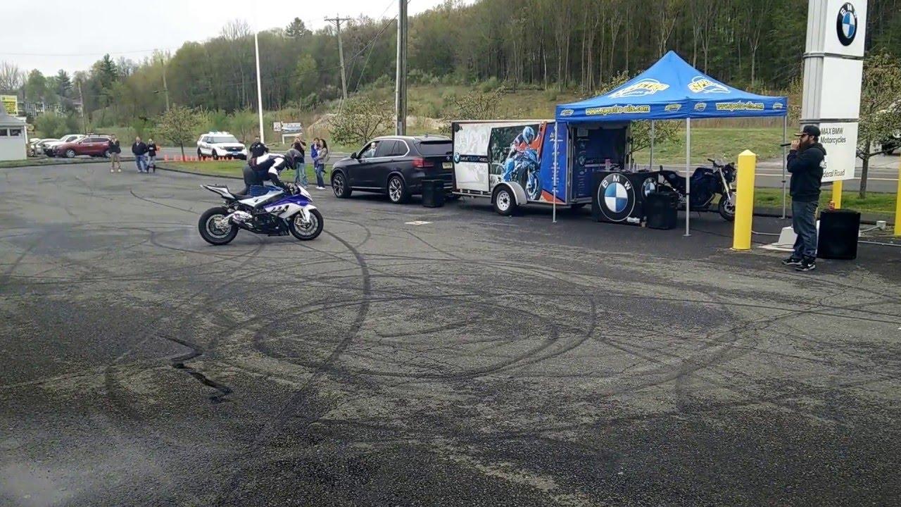 BWM S1000RR stunt demo part 3  Chris Teach McNeil  Max BMW in