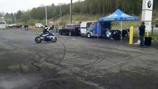 "BWM S1000RR stunt demo part 3 - Chris ""Teach"" McNeil @ Max BMW in Brookfield, CT"