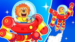 Lion Family 🤖 Robot - Superhero Cartoon for Kids