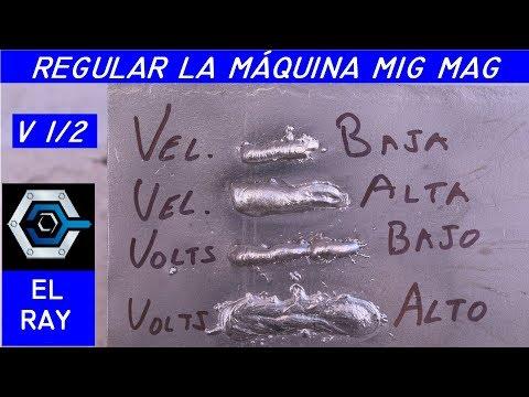 Cómo REGULAR LA MÁQUINA DE SOLDAR MIG MAG