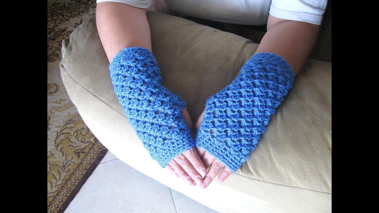 Fingerless gloves darn yarn - Angel Stitch Fingerless Gloves Crochet Tutorial