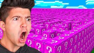 Minecraft PINK LUCKY BLOCK MAZE... FOR BOOBS?! (Minecraft Lucky Block Mod) - w/PrestonPlayz
