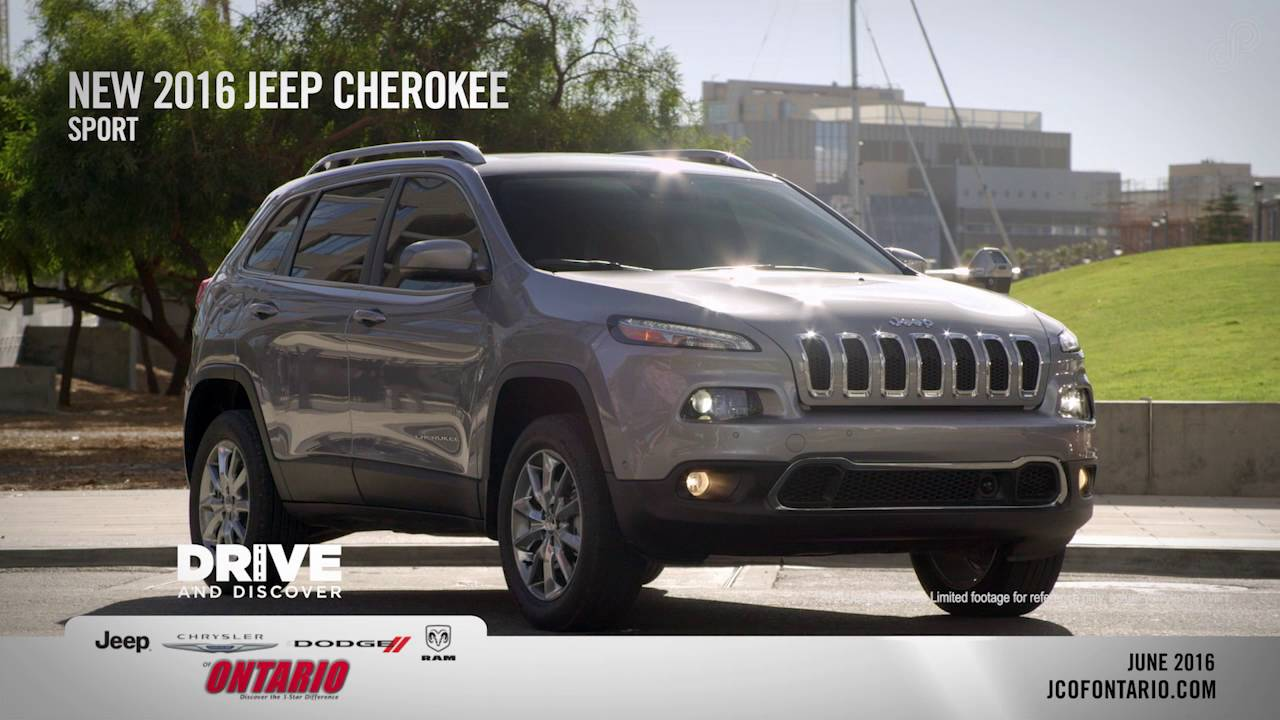 New 2016 Jeep Cherokee Sport Offer Jeep Chrysler Dodge Of Ontario June SP
