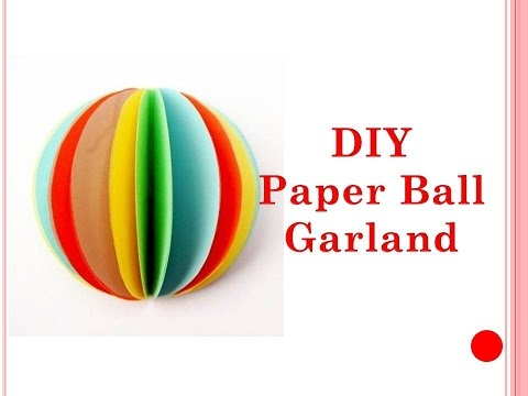 DIY  -  How To Make Paper Garland