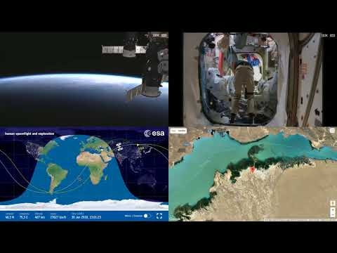 Sunset Over Asia - ISS Space Station Earth View LIVE NASA/ESA Cameras And Map - 50