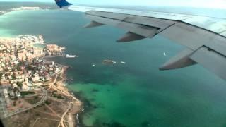 Flugzeug Take-Off von Mallorca nach Frankfurt