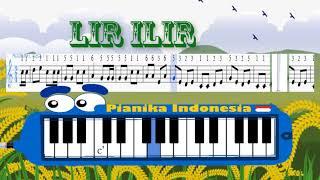 Not angka lagu daerah LIR ILIR + Pianika tutorial