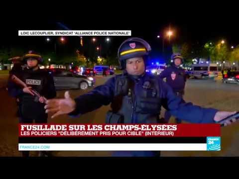 """EN DIRECT - Fusillade sur les Champs-Élysées : """"Les policiers délibérément pris pour cible"""""""