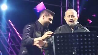 جورج وسوف وادم | الفنان ادم يفاجئ جورج سوف ويغني مع الكورال -  كده كفاية - حفلة مهرجان قرطبا 2019