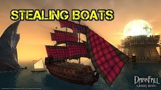 Darkfall Unholy Wars - Stealing Boats!
