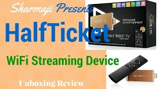 [Hindi - हिन्दी] HALFTICKET TV Smart Stick - HDMI Streaming Media Player Unboxing Review