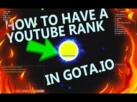 Gota io Hack!  How to Have a Youtube Rank!!
