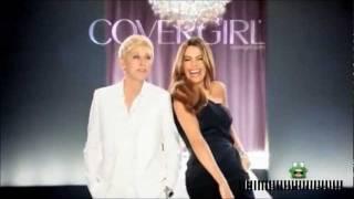 Ellen DeGeneres and Sofia Vergara   New CoverGirl Commercial