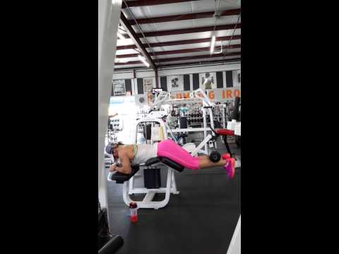 Exercise for the Legs - Hamstrings and Butt, Holly Mitchell, IFBB, Prone Leg Curls
