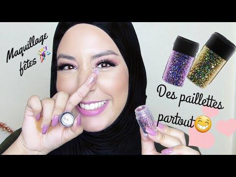Glitter makeup /Maquillage de fête au paillettes